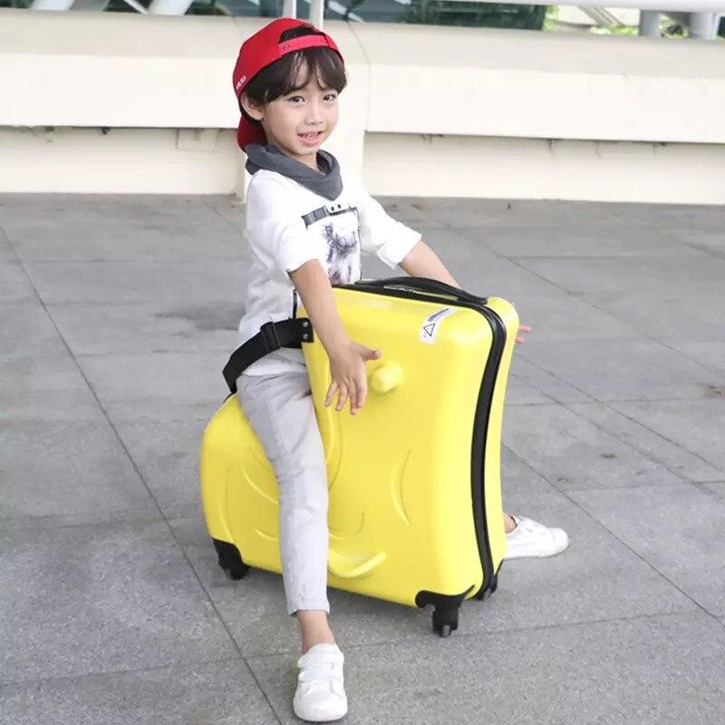 Детский Багаж на колесиках, чемодан на колесиках, детская дорожная сумка с колесиками