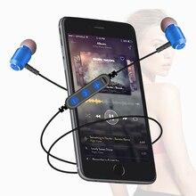 Mode Magnetische Bluetooth Eaphone V5.0 Stereo Sport Wasserdichte Ohrhörer Wireless in ear Headset mit Mic für iPhone Samsung