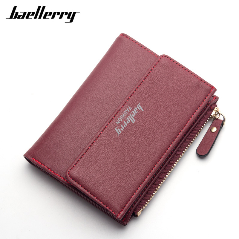 Casual Women Wallet 2017 Bifold Short Card Holder Coin Purse Brand Leather Wallet Female Clutch Small Handy Bag 8 Color Hot Sale women purse solid color mini grind magic bifold leather wallet card holder clutch women handbag portefeuille femme dropshipping