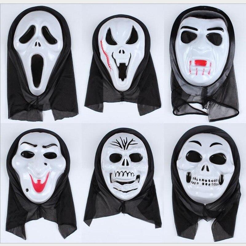 urijk scary ghost scream face mask creepy halloween party home bar partido diablo esqueleto mscaras