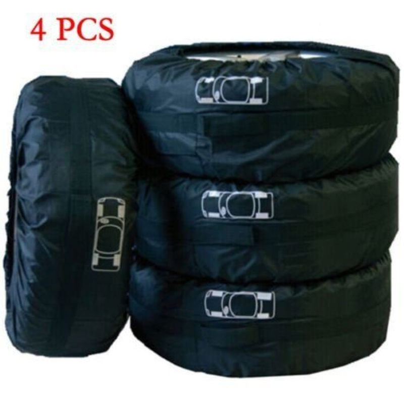 4 Pcs Car Spare Tire Storage Protection Bag 13-19 Wheel Tyre Carry Tote Cover