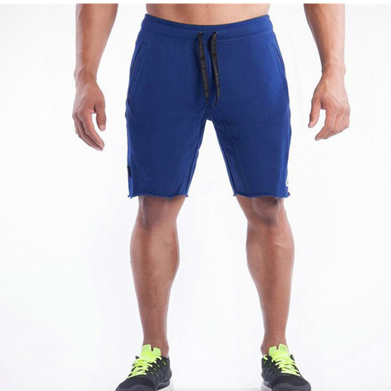 Summer New Cotton Men Shorts Calf Length Gyms Fitness Casual Joggers Red Shorts Sportswear Bodybuilding Shorts men in Casual Shorts from Men 39 s Clothing