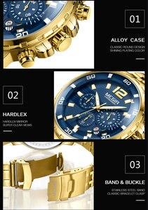 Image 2 - MEGIR גברים שעון יוקרה למעלה מותג הכרונוגרף לוח שנה שעוני יד צבאי ספורט מלא פלדה חדש זכר שעון Relogio Masculino 2068