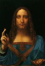 Рисунок Wall Art Живопись на холсте для украшения дома Леонардо да Винчи Сальватор Mundi Картина маслом Размножение Ручная роспись