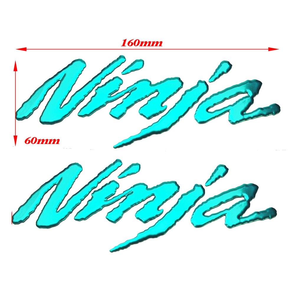 HOT 3D PVC motorcycle sticker DIY moto exterior stickers of green/red/silver/blue/black case for KAWASAKI NINJA
