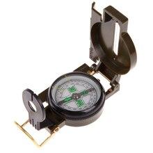 Портативный армейский зеленый складной объектив компас военный многофункциональный компас для лодки приборной панели Dash крепление наружные инструменты