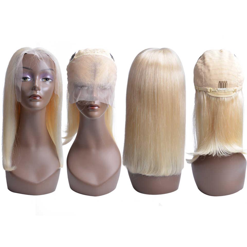 Короткий розовый парик Боб натуральные волосы перуанские Remy человеческие волосы блонд кружева спереди человеческие волосы парики для черных женщин