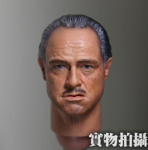 1:6 scale male Figure accessories Marlon Brando Vito Corleone The Godfather head shape carved for 12 Action figure doll brando htc hero