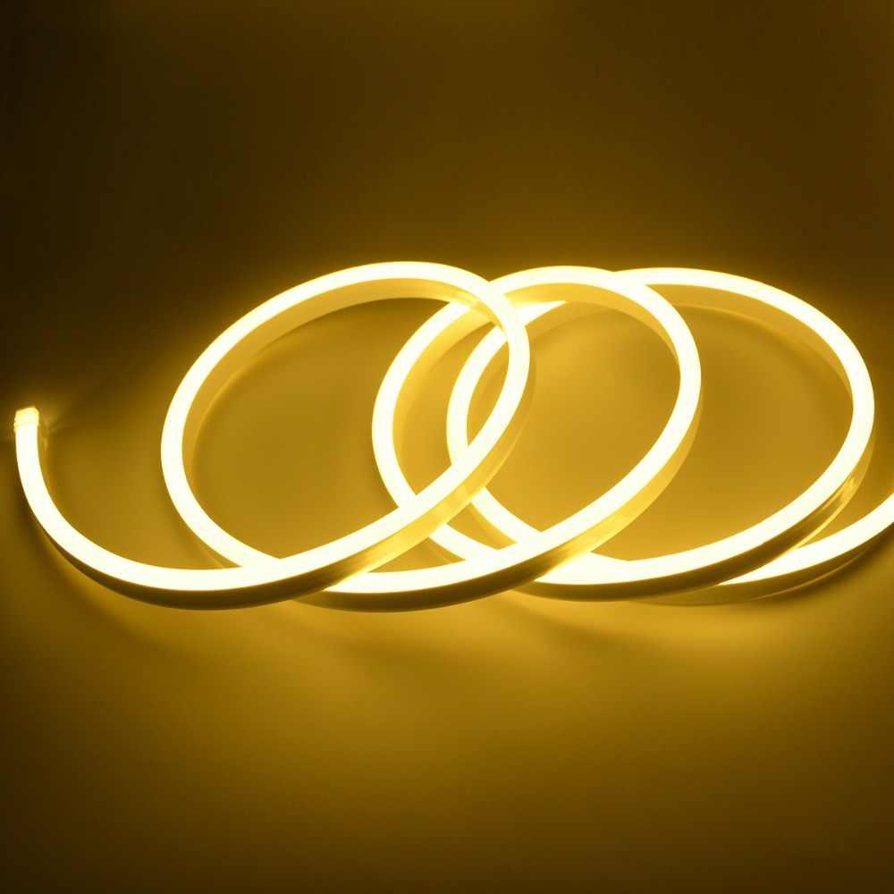 1/2/3/4/5/6/7/8/9/10 м светодиодный светильник 220V адаптер для розеток европейского стандарта неоновый светильник признаки лампа RGB Водонепроницаемый светодиодный светильник Фея светильник s Рождественский светильник Инж