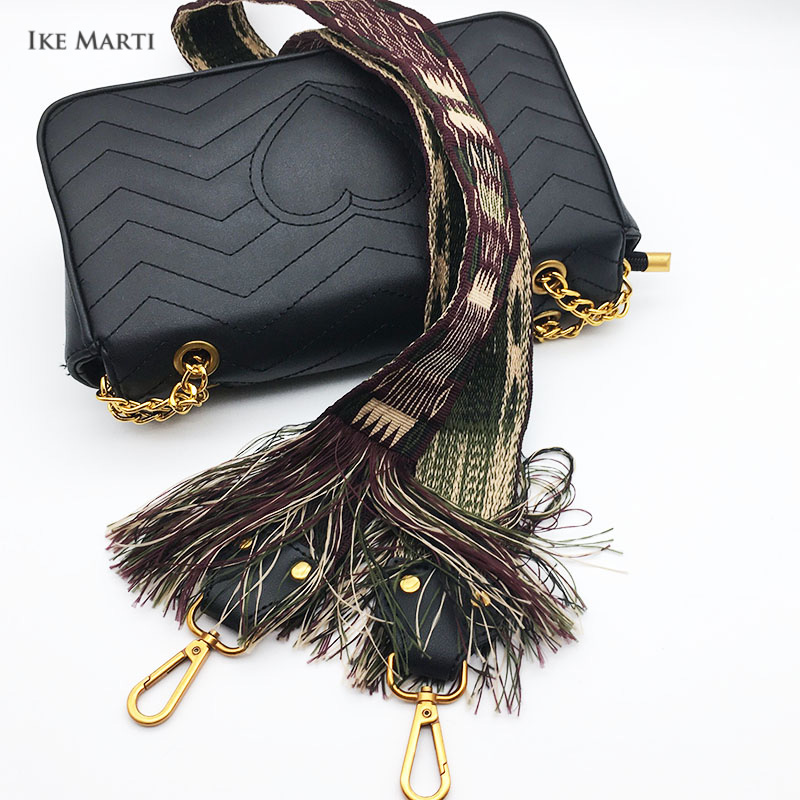 2018 Fashion Tassel Wide Shoulder Bag Strap For Bags Accessories Female Weaving Handbag Straps You Straps For Handbags Long Belt