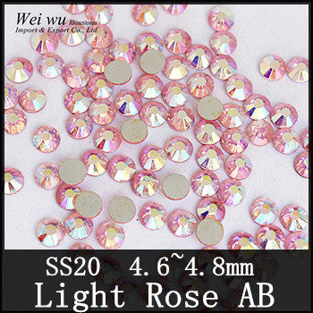 Machine Cut SS20 Light Rose AB Flatback Non Hot Fix Rhinestones China The  Best Color!-in Rhinestones from Home   Garden on Aliexpress.com  cdd8927ed349