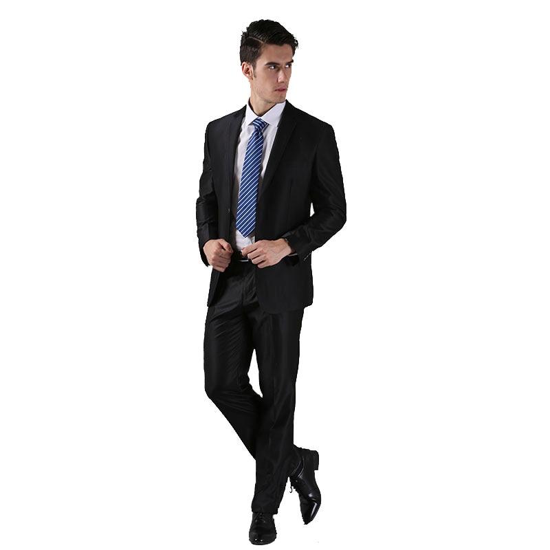 (Vestes + pantalons) 2016 nouveaux hommes costumes Slim personnalisé Fit smoking marque de mode Bridegroon entreprise robe de mariée costumes Blazer H0285 - 3