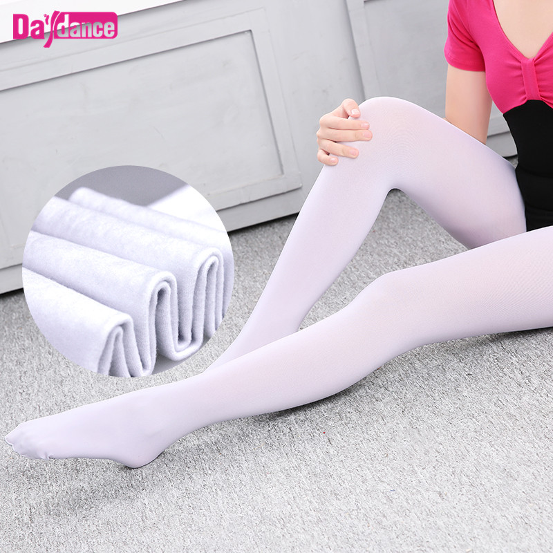 Novelty & Special Use ... Stage & Dance Wear ... 32666872343 ... 2 ... Girls Women Footed Ballet Tights Microfiber Velvet White Black Pink Ballet Dance Stockings Pantyhose With Gusset ...
