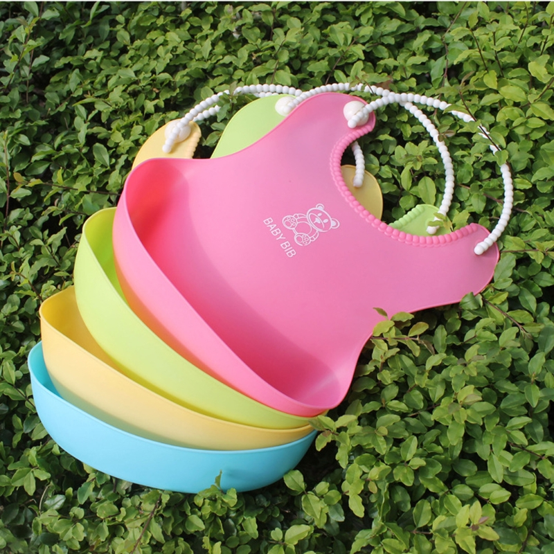 2018 Baby Infant Toddler Waterproof Silicone Bib Infants Feeding Lunch Roll-up Apron