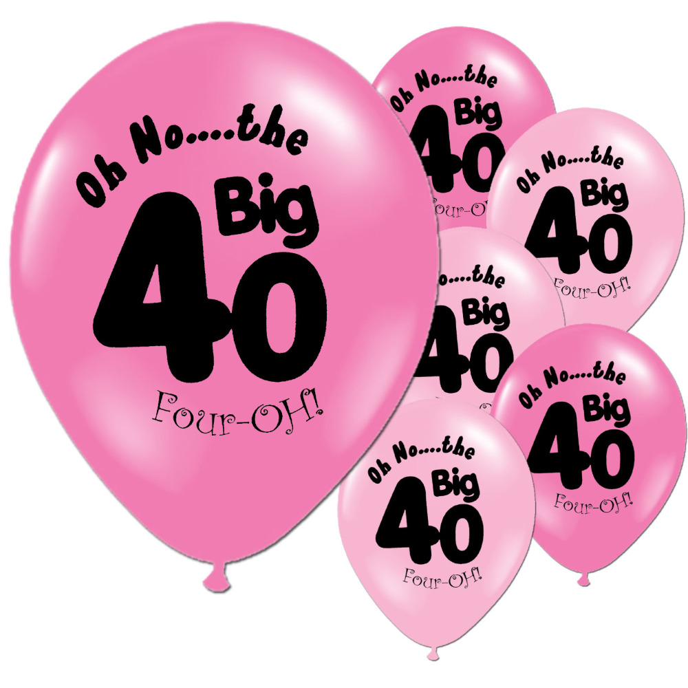 Online Shop 10 PCS Pink 40th Birthday Party 11 Pearlised Latex Printed Wedding Anniversary Happy Balloons Decor Supply