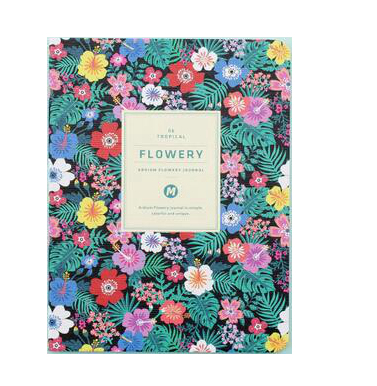 Flowery monthly journal pocket notebook 64 pages kawaii colorful ...