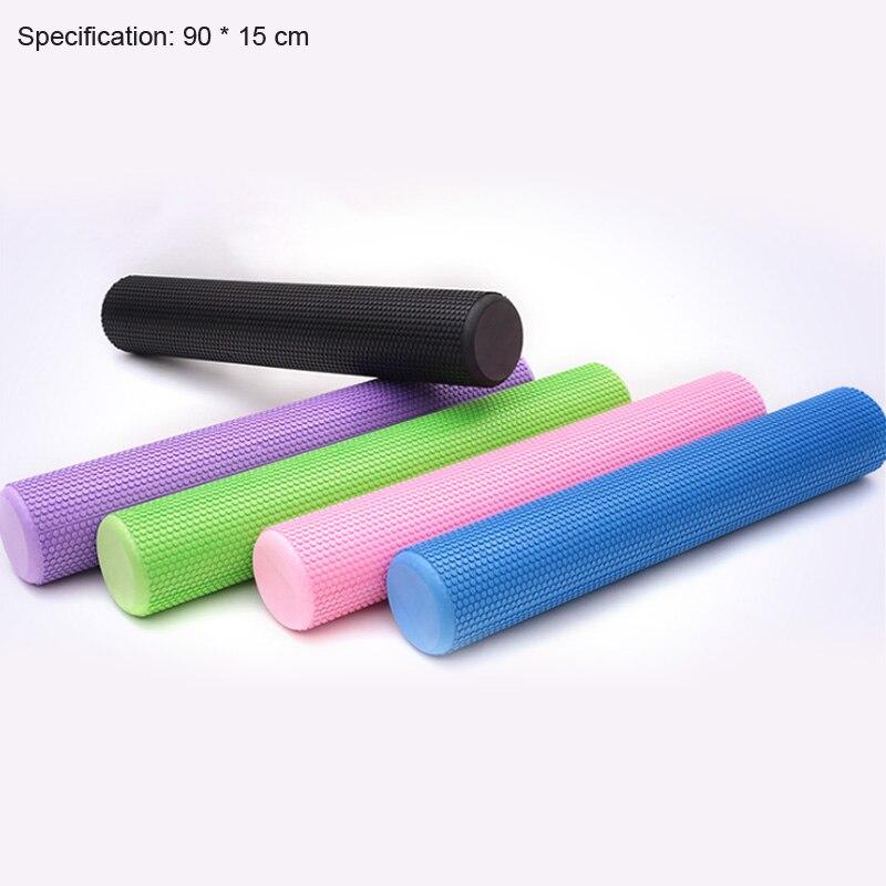 90 cm yoga mousse rouleau fitness yoga bloc fitness EVA flotteur point de déclenchement exercice physique massage traitement 5 couleurs
