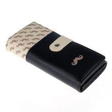 2017 תיקי אופנה של הנשים עור Pu סגנון ארנקים מוצק Hasp ארנק מצמד בעל כרטיס תיק ארנק כפתור para mujer Cardbag