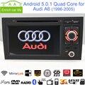 "Android 5.0.1 Quad Core GPS Навигации 7 ""Dvd-плеер Автомобиля для Audi A6 1998-2005 с Bluetooth/RDS/Radio/WIFI/Canbus/Mirrorlink"