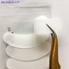 20 paket yepyeni 3D silikon göz pedleri kirpik uzatma makyaj kirpik İpuçları etiketler Wrap yamalar