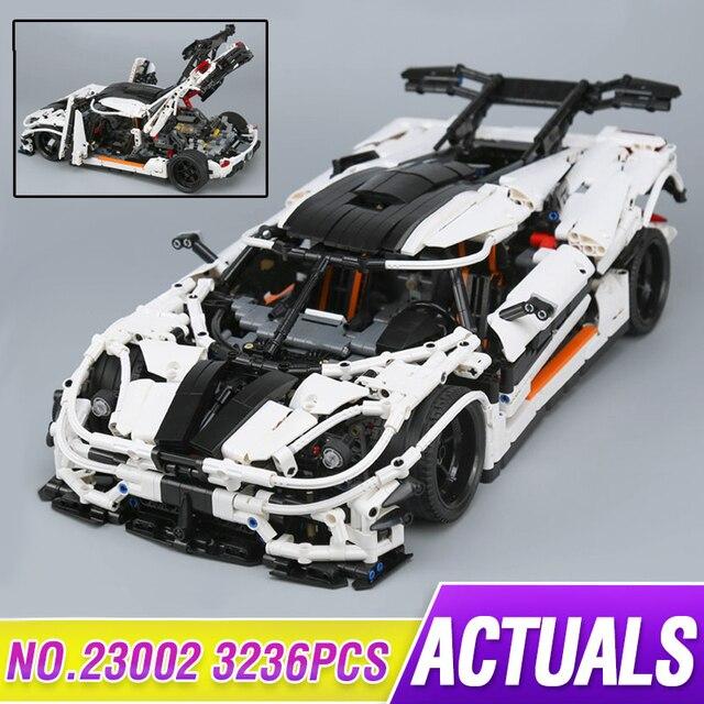 New LEPIN 23002 3136Pcs Technic series Traffic jam Model Building blocks Bricks Classic Compatible Legoing Technic to Boy Gift