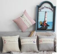 Dekoratif yastıklar atmak Akdeniz Lacivert Deniz Çapa Gemi Helm Minder Kapak Pusula yastık Kılıfı için kanepe ev almofadas