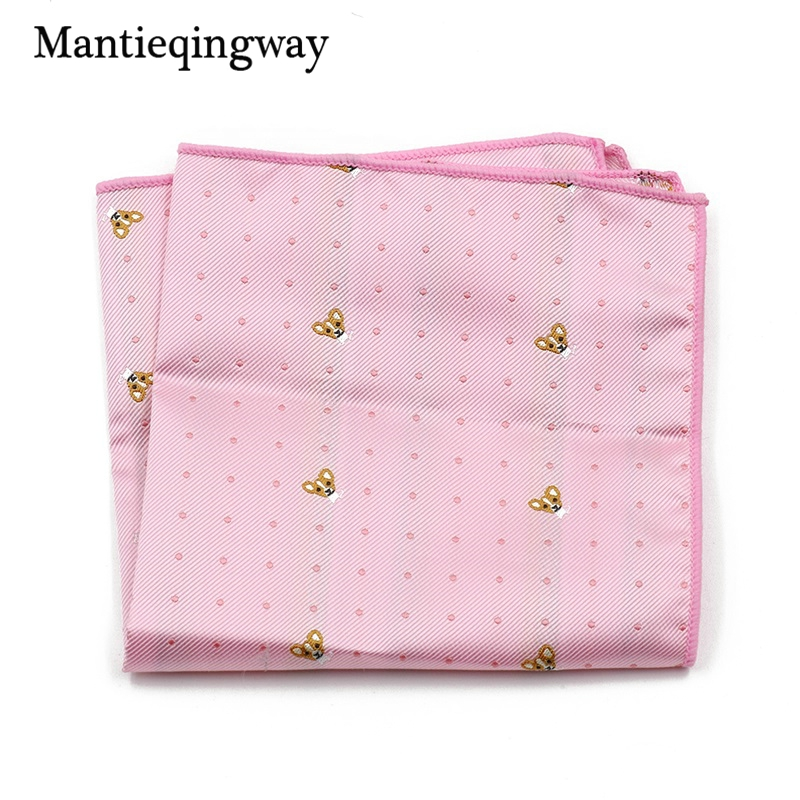 Striped Dot Floral Printed Handkerchiefs For Men's Suit Brand Polyester Pocket Square Wedding Chest Towel Hanky