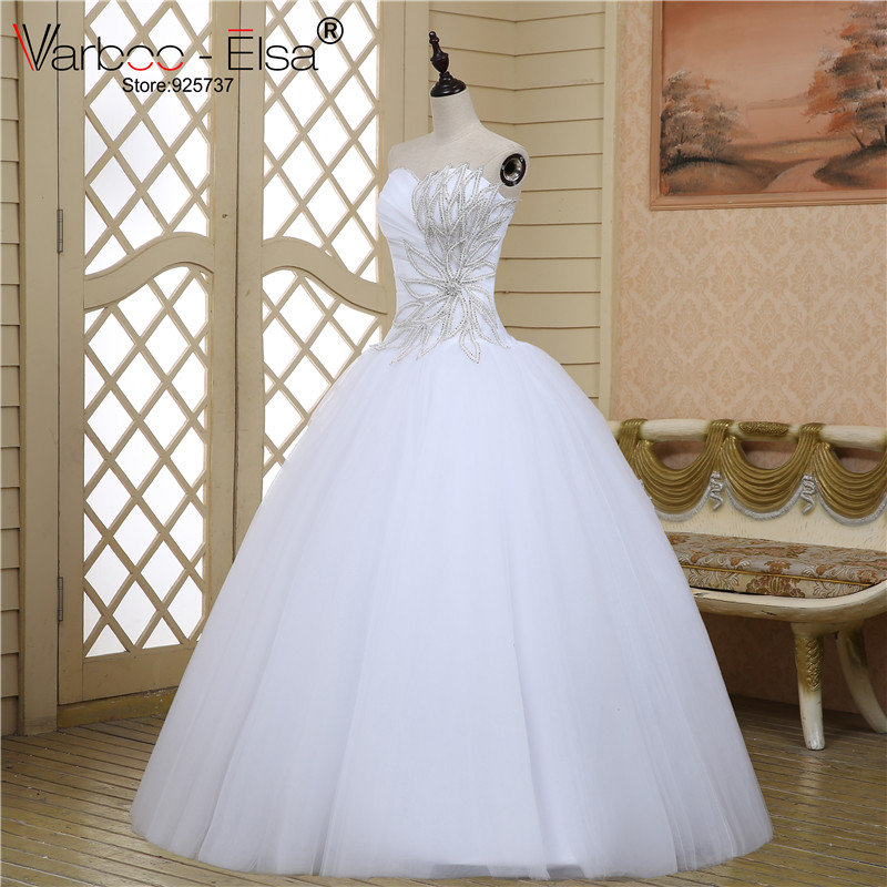 Wedding Dresses Real : Ball gown tulle beaded crystal wedding dresses real bridal