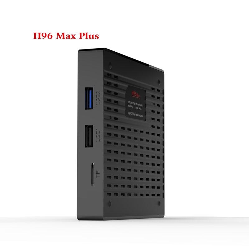 H96 最大プラスアンドロイド Tv ボックスな Rockchip RK3328 クアッドコアアンドロイド 8.1 DDR3 4 ギガバイト 32 ギガバイト内蔵 5.8 グラム wiFi H.265 4 18K IPTV ボックス  グループ上の 家電製品 からの セット トップ ボックス の中 3