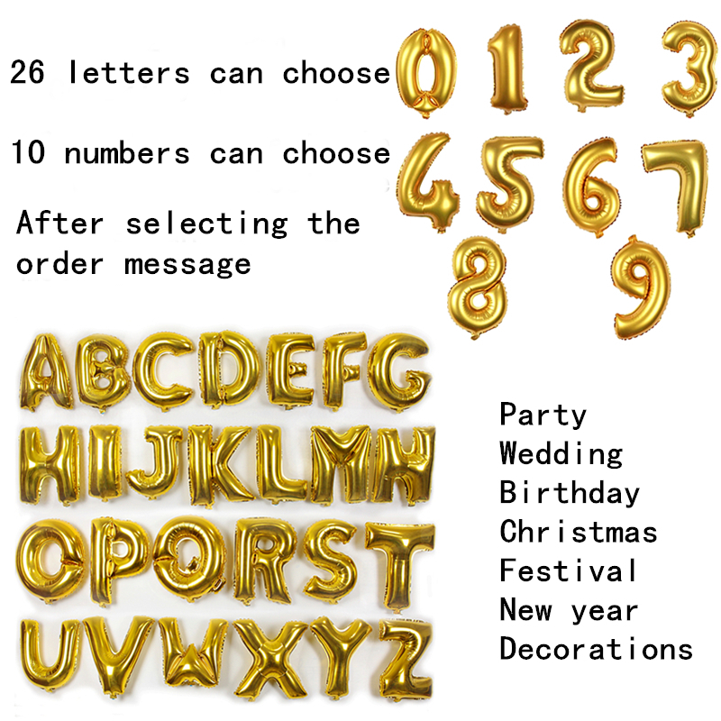 Gold Large Balloon 40 Inch Love Helium Balloons Kids Foil Letters Wedding Birthday Decorations Supplies Alphabet Ballon In From Toys