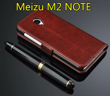 Meizu m2 note Case 5.5 inch Flip Wallet Genuine Leather Cover For Meizu M2 NOTE Meilan Note 2 With Stand Function Card Holder
