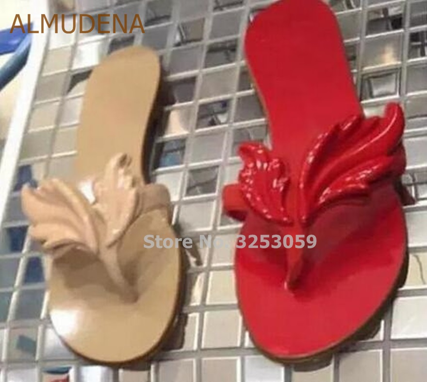 467893855 ... Flops Stylish Flat Sandals Patent Black Shoes Leather Leaf Gold Slippers  Flip Beach ALMUDENA Girls Dress