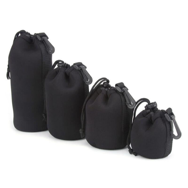 Camera Neoprene DSLR Lens Soft Pouch Protector Case Bag For Canon Niko