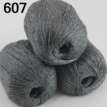 High quality 100% pure cashmere luxury warm and soft hand-knitting yarn Charcoal gray 233-607