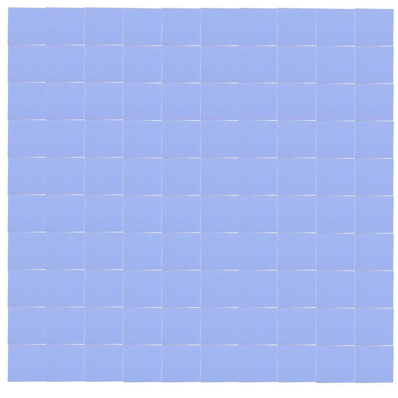 100x 10x10x1mm silicone thermal pad for conductive heat sink Insulation Pate, Blue