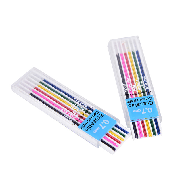 6color 2pcs/color 0.7 Mm Mechanical Pencil Color Lead Refill Office U0026  School Writing Drawing  Colored Writing Paper