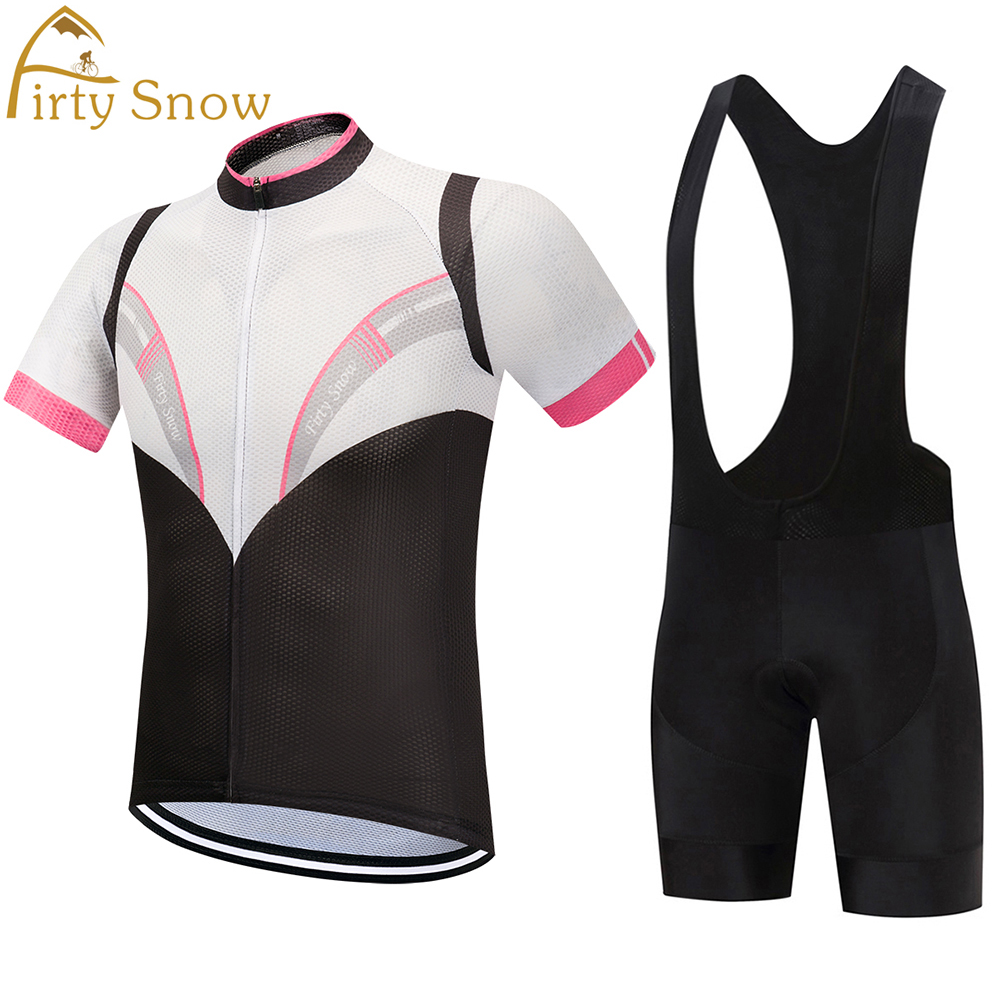 Firty Snow 2018 Mens Cycling Jerseys Set for Outdoor Biking Bicycle Bib Sorts Gel Padded MTB Bike Riding Short Pants ciclismo