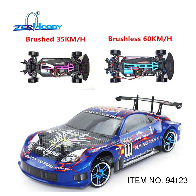 Us 170 1 10 Off Hsp Rc Cary Toys Flying Fish Rc Cars 1 10 Scale Electric Brushed Rc Drift Car 7 2v 1800mah Battery Included Item No 94123 In Rc