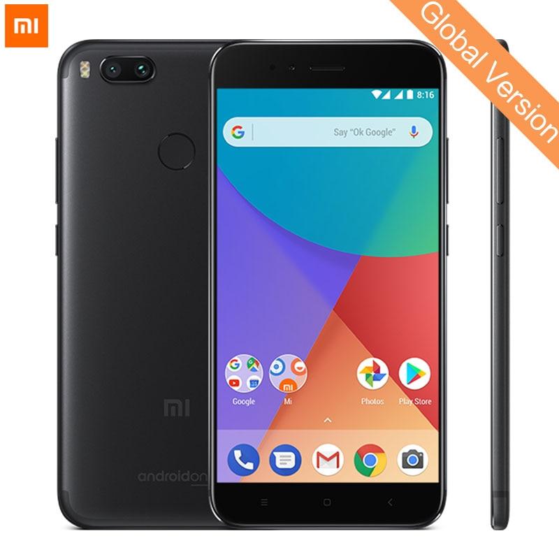 Mondial Version Xiao mi mi A1 4 GB 32 gb mi A1 mobile téléphone SNAPDRAGON 625 Octa Base 5.5 1080 p Double Caméra 12.0MP Android Un CE FCC