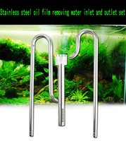 Aquarium Filter Barrel Stainless Steel Inlet And Outlet Pipe Set Comes With Oil Remover And Hex Wrench Replacement Tool