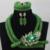 Nigeriano Traje Verde Perlas Africanas Joyería Conjunto Indio Dubai Joyería de la Boda Venta Caliente 2017 Envío Gratis WD413
