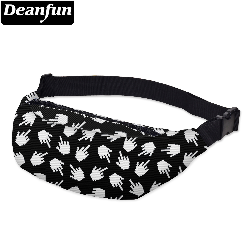 Deanfun Waist Bag 3D Printing Unisex Fanny Pack With Adjustable Band For Outdoors Traveling