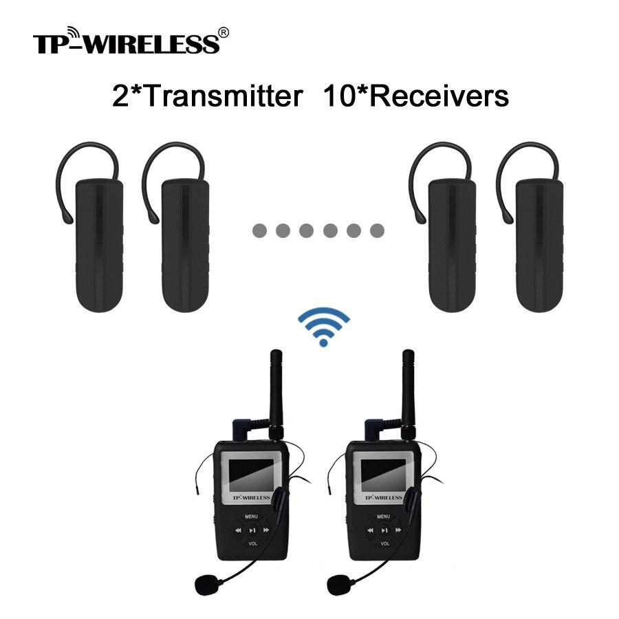Sistema de traducción simultánea UHF TP-WIRELESS Mini Earhook - Audio y video portátil