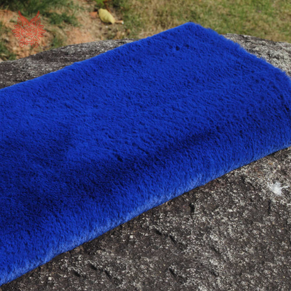 Разноцветный см 1,5 см длинный искусственный мех кролика ткань пушистый мех tissu stoffen для DIY аксессуары одежда обивка 160 см * 50 см SP4636