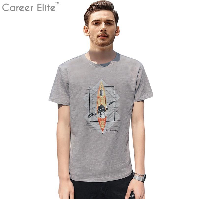 2018 Modekleidung Boots Druckte T-shirt Männer T-shirt Marke Neue Design Sommer T-shirt Männlichen Tops Qualität 100% Baumwolle Tees