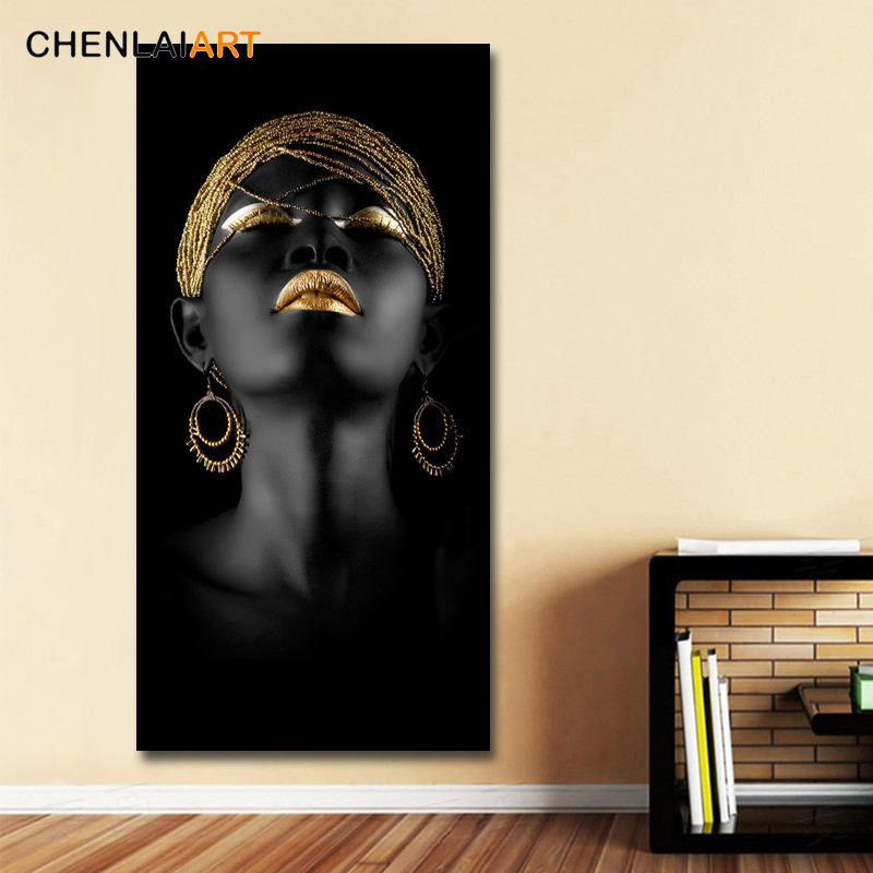 HTB17FuHKSzqK1RjSZFHq6z3CpXaF Canvas Prints Modern Black Woman Model Painting Wall Art Poster And Prints Pictures Home Decoration For Living Room No Frame