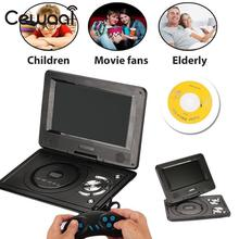 """Cewaal New 7"""" LCD Display 720P HD VCD DVD Media Player EU Plug Portable Support MP3 Player Professional Boy Kid Music Gift"""