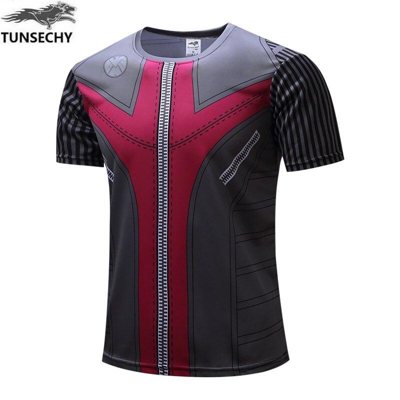 2017 TUNSECHY Brand fashion captain America superman iron man 3D digital printing T-shirt superhero short sleeve T-shirt
