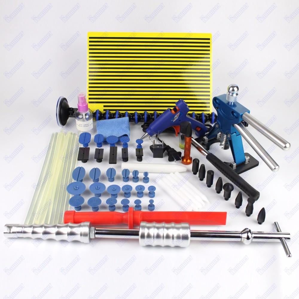 Adjustable Dent Lifter Kit Glue Puller Paintless Dent Repair Tool slide hammer hail dent removal tools kit Car body repair tools
