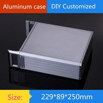 Размер корпуса усилителя 229*89*250 мм полностью алюминиевый корпус усилителя 2U/корпус измерительного прибора/корпус усилителя/коробка DIY